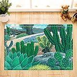 Cactus Decor, Tappeti da Bagno per Piante Carnivore del Deserto Verde Tropicale, tappetini...