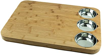 Versachop Trio, Extra Large 22 X 16 inch Cutting Boards for Kitchen, Butcher Block - Totally Natural Organic Moso Bamboo b...