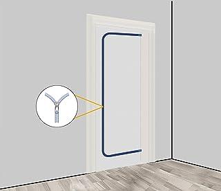 Staubschutztür Vlies inkl Reißverschluss, Staubschutz, Bautür, 1,10 x 2,20 m u.a. für Renovierungen & Umbauten, aus staubdichtem Polypropylen-Vlies PP Set 1: 1er Set ohne Klebeband