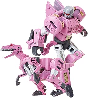 Volcanicus Transformer Power Grimlock Alloy Dinosaur Action Figure Robot Toys Gifts for Kids Boys (Slash (Pink Raptors ))