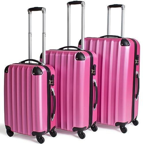 TecTake Set 3 Maletas ABS Juego de Viaje con Ruedas - disponible en diferentes colores -