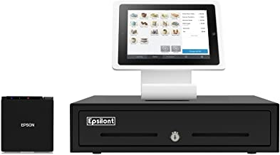 "Square Register Hardware Bundle Compact -M10 2"" Compact Receipt Printer, Stand for iPad 10.2"" & 10.5"",13"" Epsilont Mini Ca..."