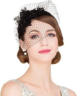 Ladies Flower Veil Fascinators Cocktail Tea Party Banque Wedding Headwear