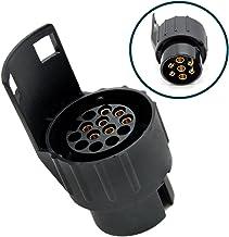 Adapter rimorchio 12V Presa per rimorchi da 13 a 7 Poli ZCZUOX Adattatore Gancio Traino da 13 a 7 Pin Convertitore Presa Auto Camion Camper
