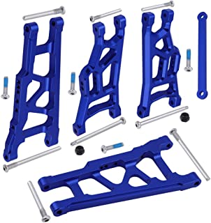 Hobbypark Front & Rear Aluminum Suspension Arms w/Tie Bar Replacement of 3655X 3631 for Traxxas Stampede VXL 2WD 1/10 Upgrade Parts (Navy Blue)