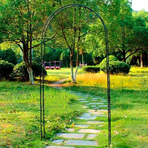 AAQQ Rosenbogen, 115 cm X 12 cm X 240 cm, Kletterpflanzen Laube Pergola Torbogen Patio, Lauben für den Garten, Rosenbogen aus Metall (Schwarz)