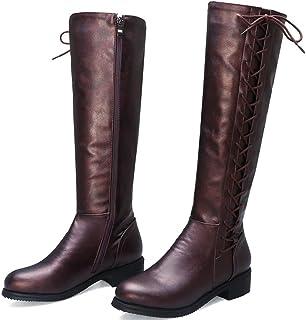 أحذية نسائية بكعب منخفض أحذية عالية أحذية مارتن ، وركوب أحذية نسائية أحذية غير رسمية مربوطة أحذية نس