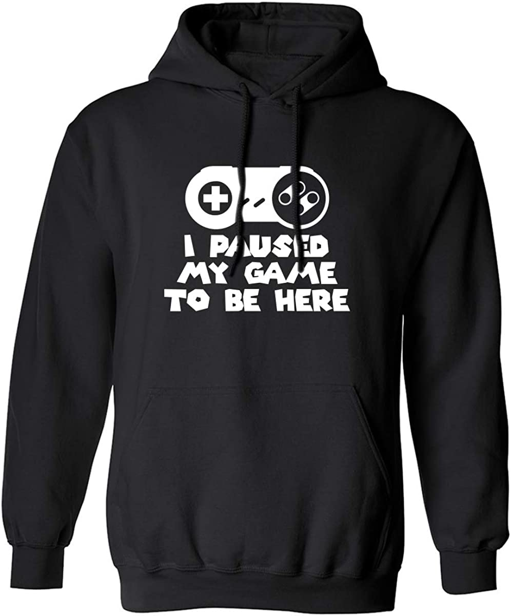 Popularity I Paused My Game San Antonio Mall to Hooded Adult Be Sweatshirt Here