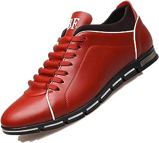 Jojsely56 Soprattutto Taglia Manuale di Moda Stivali in Pelle Intrecciata Scarpe di Pelle Scamosciata di Grandi Dimensioni...