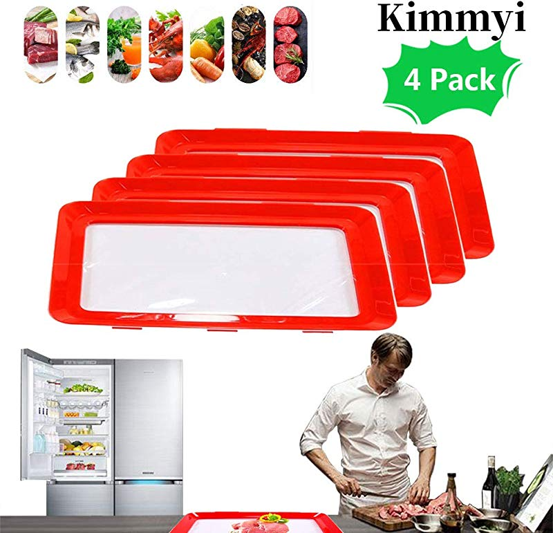 2019 New Healthy Creative Tray Food Plastic Preservations Tray Food Keep Fresh Tray Healthy Seal Storage Container 4PC