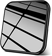 AmyZone Fast Wireless Charger Case&Sleep-Friendly Slim Aluminum Mirror 10W Qi Wireless Charging Pad Compatible iPhone 11/11 Pro/11 Pro Max/Xs Max/XR/XS/X/8 Plus Samsung Galaxy S10/S9 Note 10/9(Black)