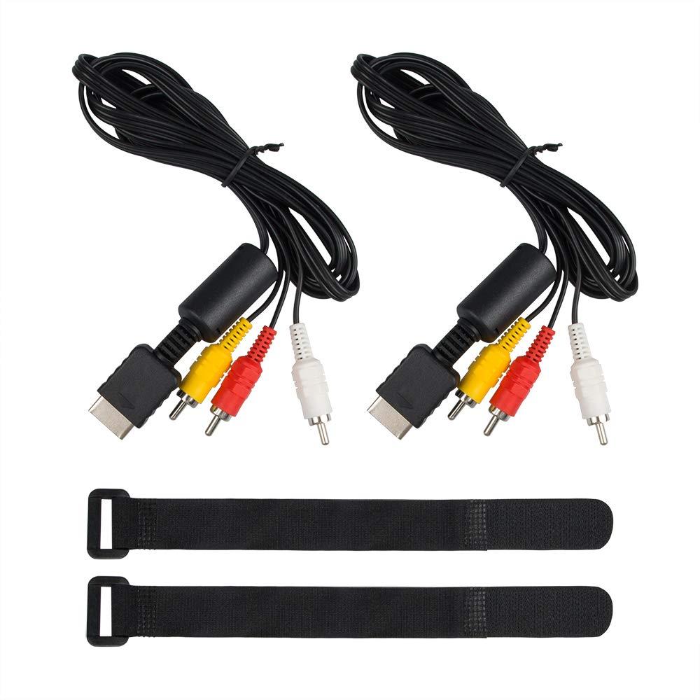 YuCool - Cable AV a RCA (2 Unidades, 1,8 m, para Sony Playstation PS2/PS3): Amazon.es: Electrónica