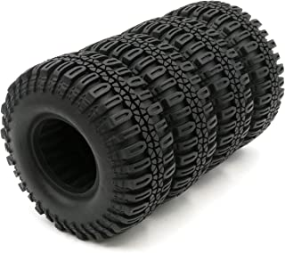 4pcs RC 1.9 Crawler Tires Mud Tyres Height 108mm for 1:10 RC 1.9 Beadlock Wheels Rim