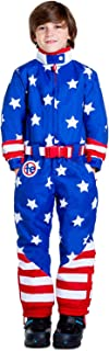 Children's American Flag Ski Suit - USA Stars and Stripes Ski Suit for Kids
