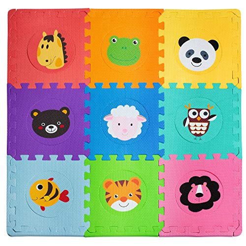 Foam Floor Mats for Kids – Baby Floor Mat Foam – Animal Puzzle Mat – Soft, Reusable, Easy to Clean, Non-Toxic