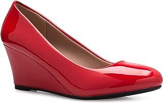 Women's Adorable Low Wedge Heel Shoe - Easy Low Pumps - Basic Slip On, Comfort