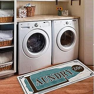 Ustide Laundry Rug Runner Nonslip Rubber Mat Floor Runner Durable Carpet Waterproof Restaurant Rug