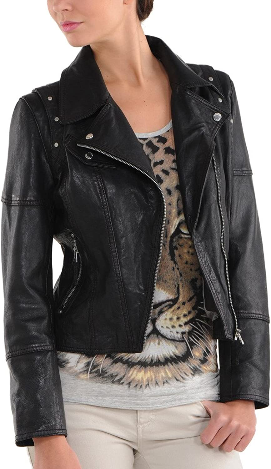 New Womens Motorcycle Genuine Sheep Leather Party Jacket LFW208