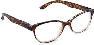 Inner Vision Women's Reading Glasses w/Spring Hinges & Case - (1.75 x Magnification) - Brown Tortoise