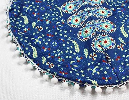 Sylar Decorativo Indio Bohemio Redondo Cojines de Algodón Bordado Vintage Decoración del Hogar Fundas De Colchón 43 * 43cm