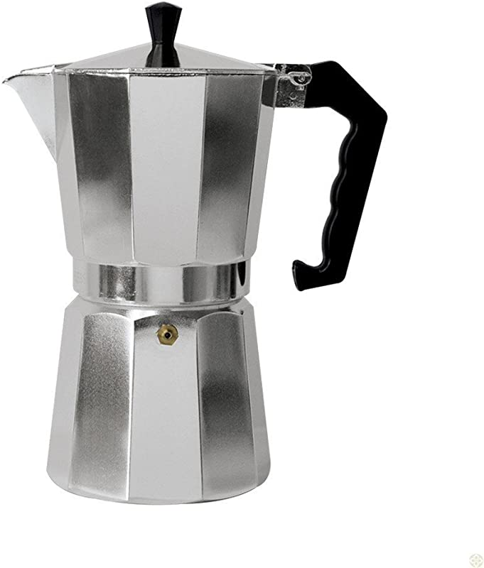 6 Cup Italian Style Expresso Coffee Maker For Use On Gas Electric And Ceramic Cooktops