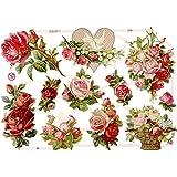 Creativ 19328 - Imágenes brillantes (16,5 x 23,5 cm, 3 hojas), diseños de rosas