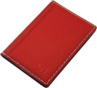 MJ-Design-Germany - Tarjetero con costura en contraste, 12 compartimentos Rojo Diseño 2 / Rojo
