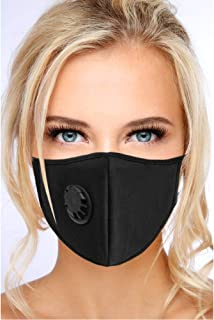 N95 N99 Particulate Respirator Mask - Anti Air Pollution Mask with Exhalation Valve - Washable and Reusable Face Protection - Resist Dust, Smoke, Allergies, for Men Women - Black