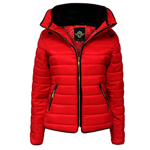 GLAM COUTURE NEW LADIES WOMENS QUILTED PADDED PUFFER BUBBLE FUR COLLAR WARM  THICK JACKET COAT c046531533