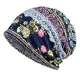 EEVASS Berretto Elasticizzato da Donna Beanie Hat Headwear Bandane Multiuso (#1 Blu, 1)