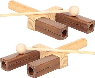 Musicalização Agogô 1 Par Carlu Brinquedos
