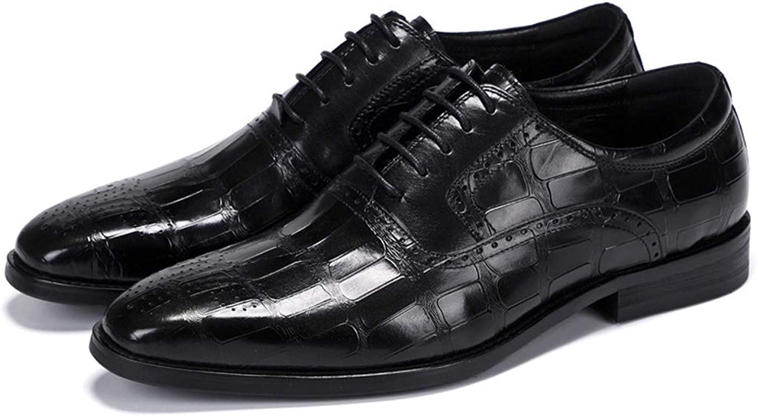 Men's Leather Oxford shoes, broch Leather shoes, Leather Dress, Wedding Dress, Pointed Men's shoes