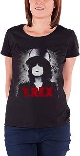 T Shirt The Slider Marc Bolan T.Rex Official Womens Junior Fit Black