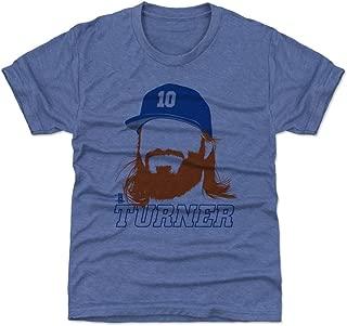 500 LEVEL Justin Turner Los Angeles Baseball Kids Shirt - Justin Turner Silhouette