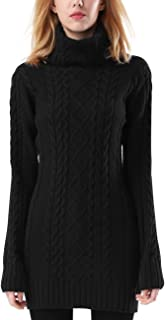 Women's Turtleneck Sweater Long Sleeve Slim Fit Solid Pullovers