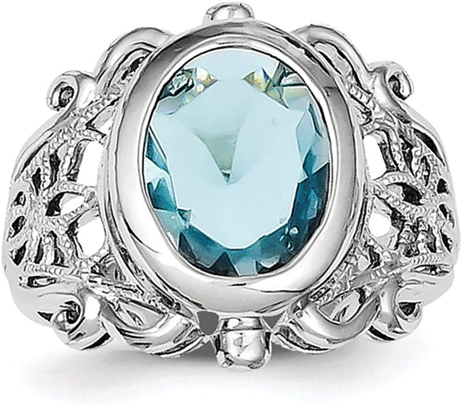 925 Sterling Silver bluee Ring
