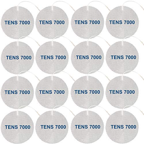 TENS 7000 Official TENS Unit Pads - Premium Quality OTC TENS Pads, 3' Round - Compatible with Most TENS Machines, Replacement Electrodes Value Pack, 16 Count