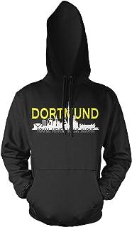 Dortmund Skyline Männer und Herren Kapuzenpullover | Fussba