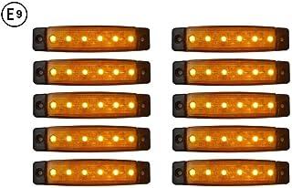 A1 10 x LED 12V ORANGE BEGRENZUNGSLEUCHTE POSITIONSLEUCHTE SEITENMARKIERUNGSLEUCHTE LKW