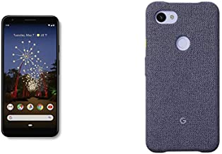 $344 » Google - Pixel 3a XL with 64GB Memory Cell Phone (Unlocked) - Just Black and Google Pixel 3a XL Case, Seascape