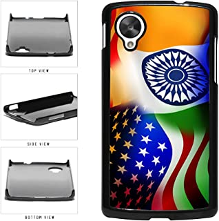 BleuReign(TM) India and USA Mixed Flag Plastic Phone Case Back Cover Google Nexus 5 D820
