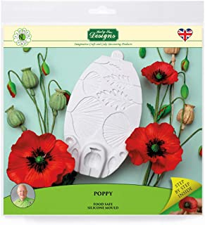 Poppy Silicone Sugarpaste Icing Mold, Flower Pro by Nicholas Lodge for Cake Decorating, Crafts, Cupcakes, Sugarcraft, Candies and Clay, Food Safe, Made in the UK