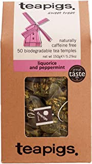 Teapigs Liquorice and Peppermint Tea Bags Made With Whole Leaves (1 Packs of 50)