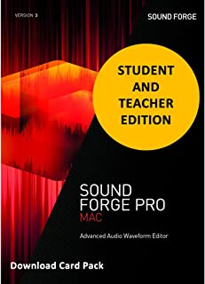MAGIX Sound Forge Pro 3 MacOSX for Students & Teachers [Download Card]