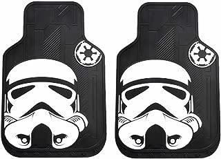 2pc Star Wars Stormtrooper Face Black & White Front Rubber Floor Mats Set New