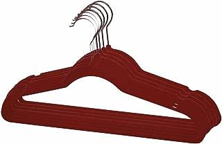 nobrand Waller PAA New 120 Pack 120PC Slim Space Saving Non-Slip Velvet Velour Hangers (Burgundy)