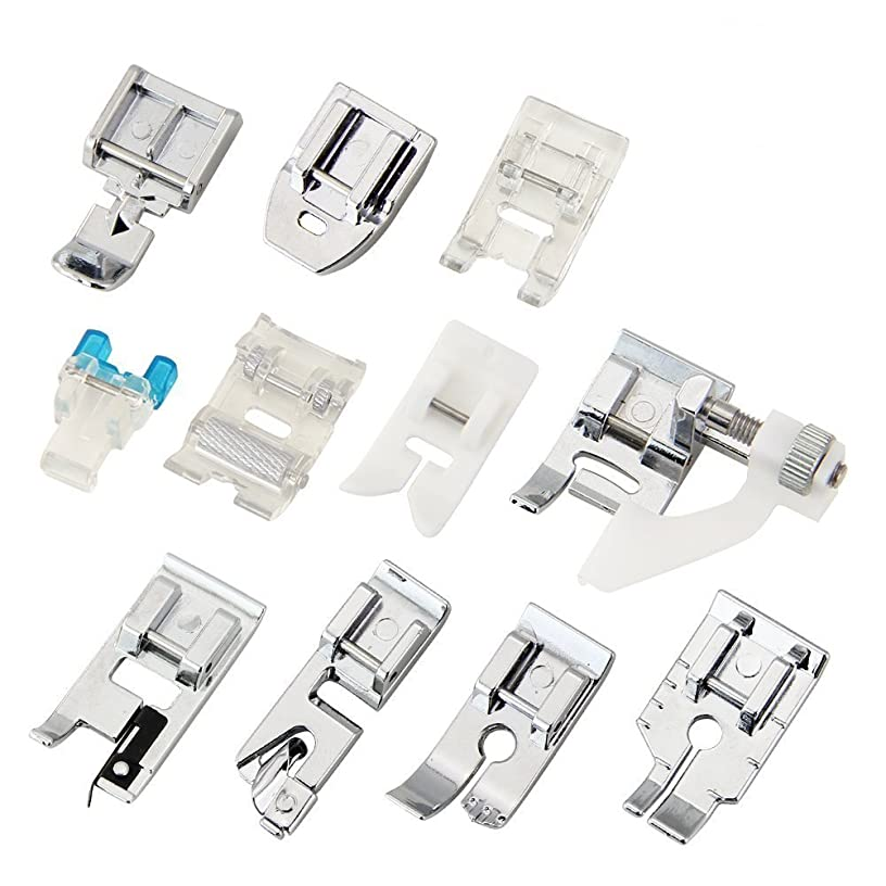 Zilong 11 PCS Domestic Sewing Machine Snap-On Presser Foot Set For Singer, Brother, Janome, Kenmore, Babylock, Pfaff, Simplicity And Low Shank Sewing Machines