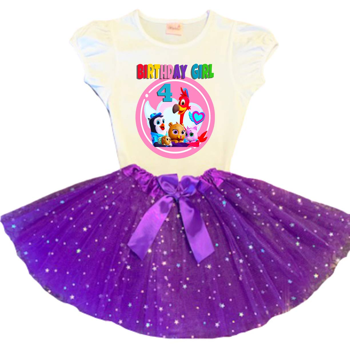 TOTS Birthday Tutu Trust 4th Party S Outfit Dress Store Purple