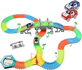 infinitoo Tracks Magique Circuit de Voiture Flexible Tracks Car | Une Piste Modulable au Néon+ Voitures Lumineuses + Acces...