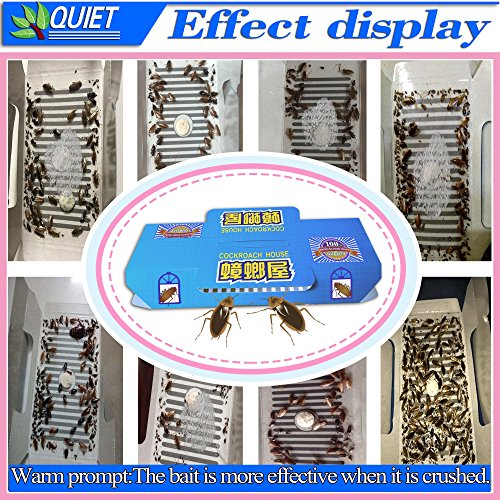 QUIET 10 Packs Best Cockroach Trap Killer Safe And Effective Quickly Captured Roaches, Pest Control Traps Sticky Glue, With 10 packs Non-Toxic Bait